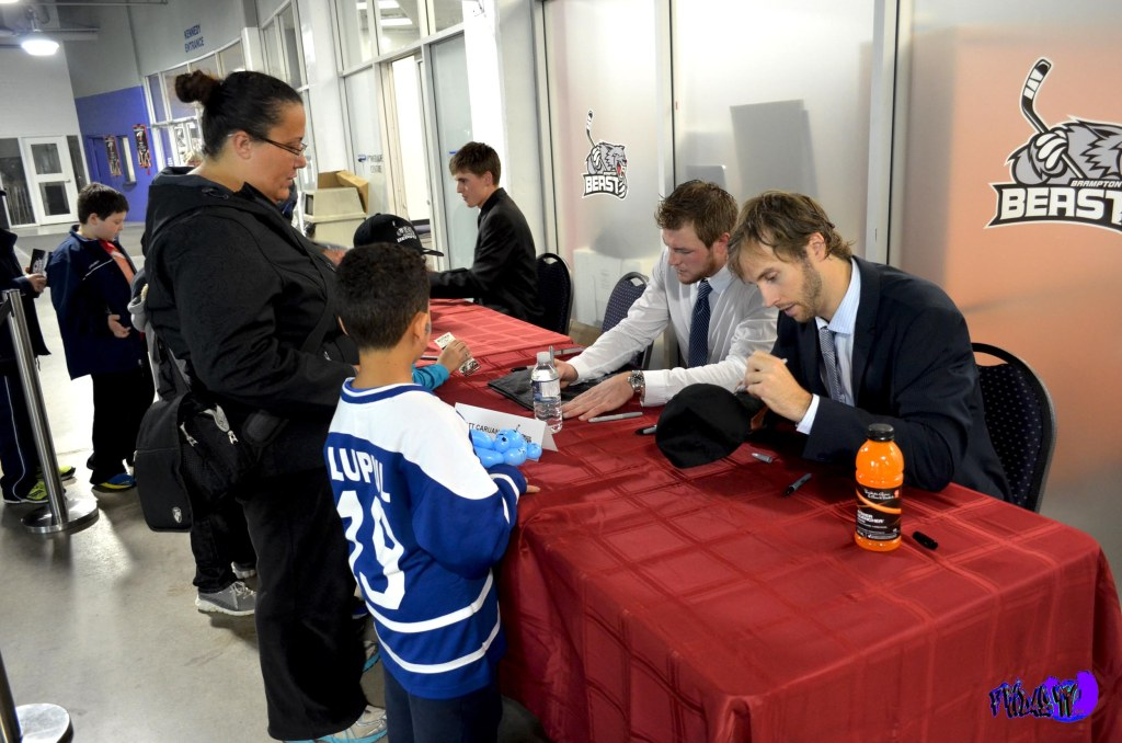 BRAMPTON BEAST HOCKEY PLAYERS SIGNING AUTOGRAPHS - MONDAY OCTOBE