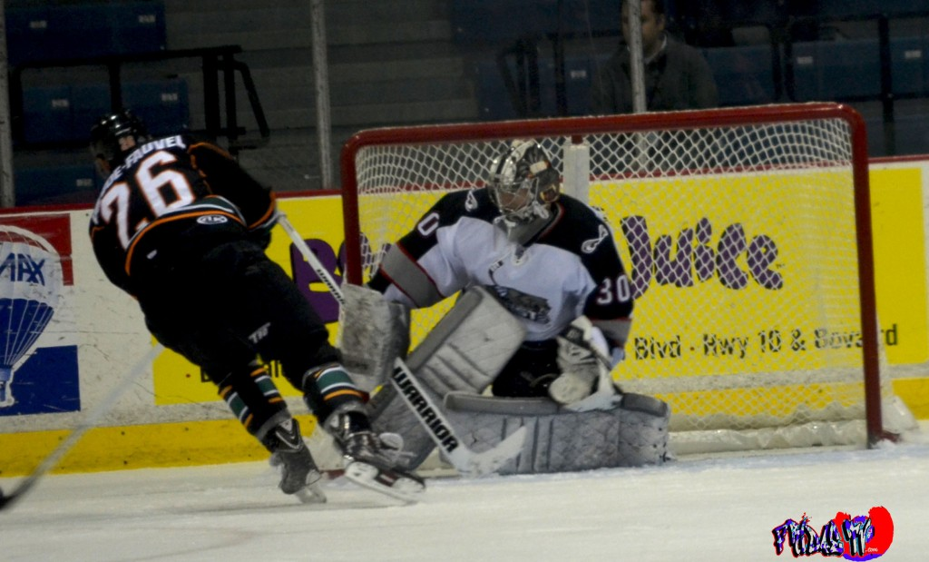 BRAMPTON BEAST - GOALIE KRIS WESTBLOM - MONDAY DECEMBER 30TH 201