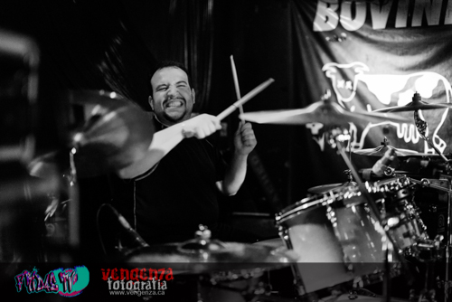BLIND RACE - STELIOS KENTROS DRUMS LIVE @ THE BOVINE FEB.7TH 2014