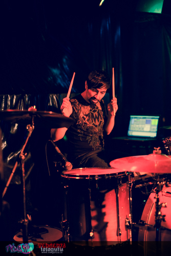 BREACHED - NEIL UPPAL - DRUMS LIVE @ THE BOVINE FEB.7TH 2014