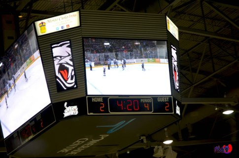 BRAMPTON BEAST SCOREBOARD - POWERADE CENTRE MARCH 30TH 2014