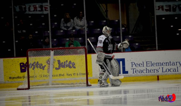 BRAMPTON BEAST GOALIE KRIS WESTBLOM - POWERADE CENTRE APRIL 11TH